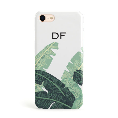 Personalised White Banana Leaf Apple iPhone Case