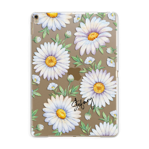 Personalised White Daisy iPad Case