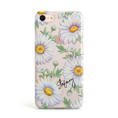 Personalised White Daisy iPhone Case