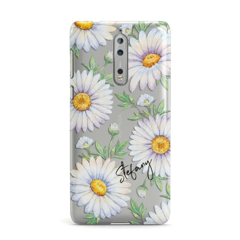 Personalised White Daisy Nokia Case