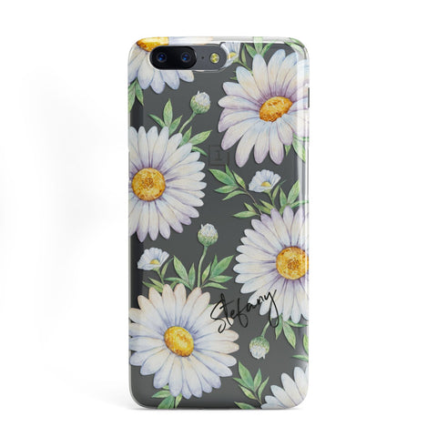 Personalised White Daisy OnePlus Case