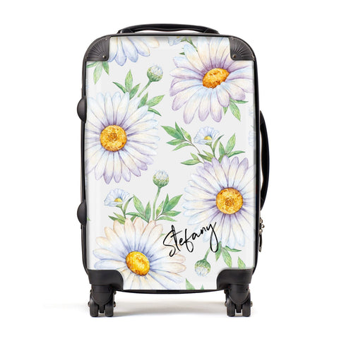 Personalised White Daisy Suitcase