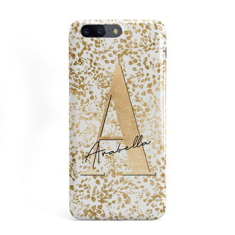 Personalised White Gold Cheetah OnePlus Case
