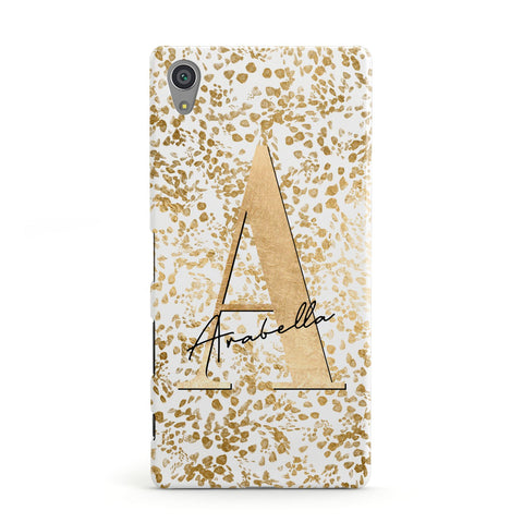 Personalised White Gold Cheetah Sony Case