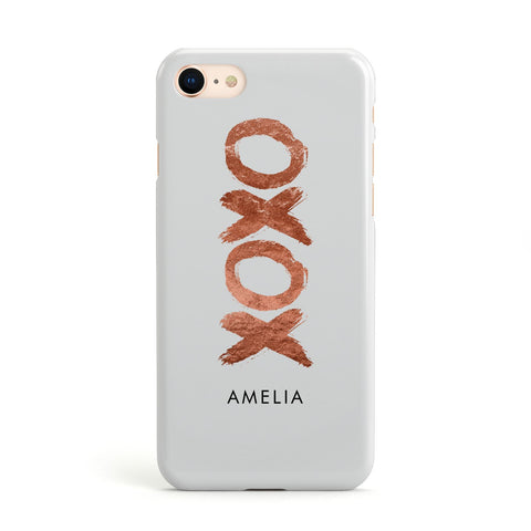 Personalised Xoxo Custom Name Or Initials Apple iPhone Case