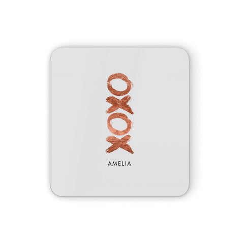 Personalised Xoxo Custom Name Or Initials Coasters set of 4