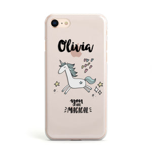 Personalised You Are Magical Unicorn Apple iPhone Case