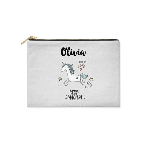 Personalised You Are Magical Unicorn Clutch Bag