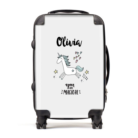 Personalised You Are Magical Unicorn Suitcase
