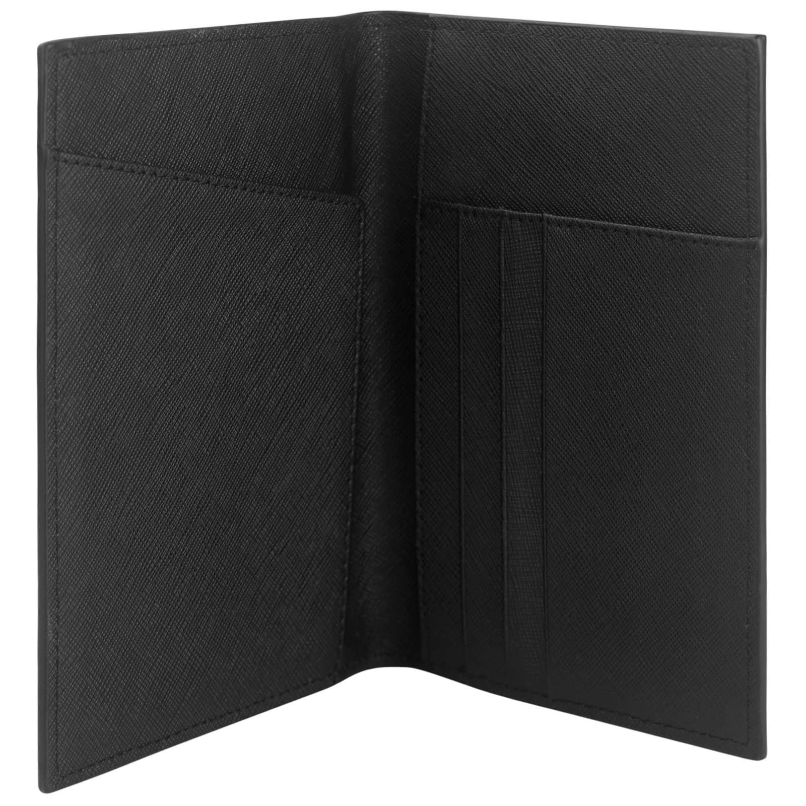 Personalised Black Saffiano Leather Passport Holder Inside Pocket