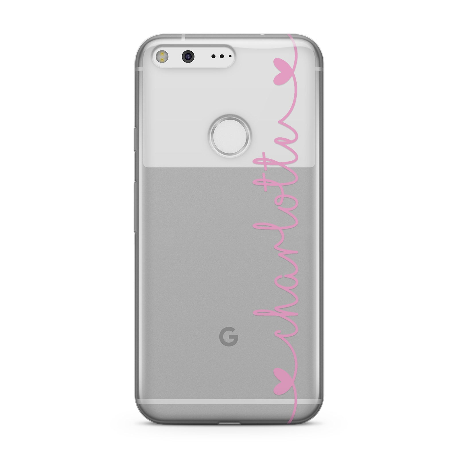 Personalised Pink Handwritten Name Vertical Google Case