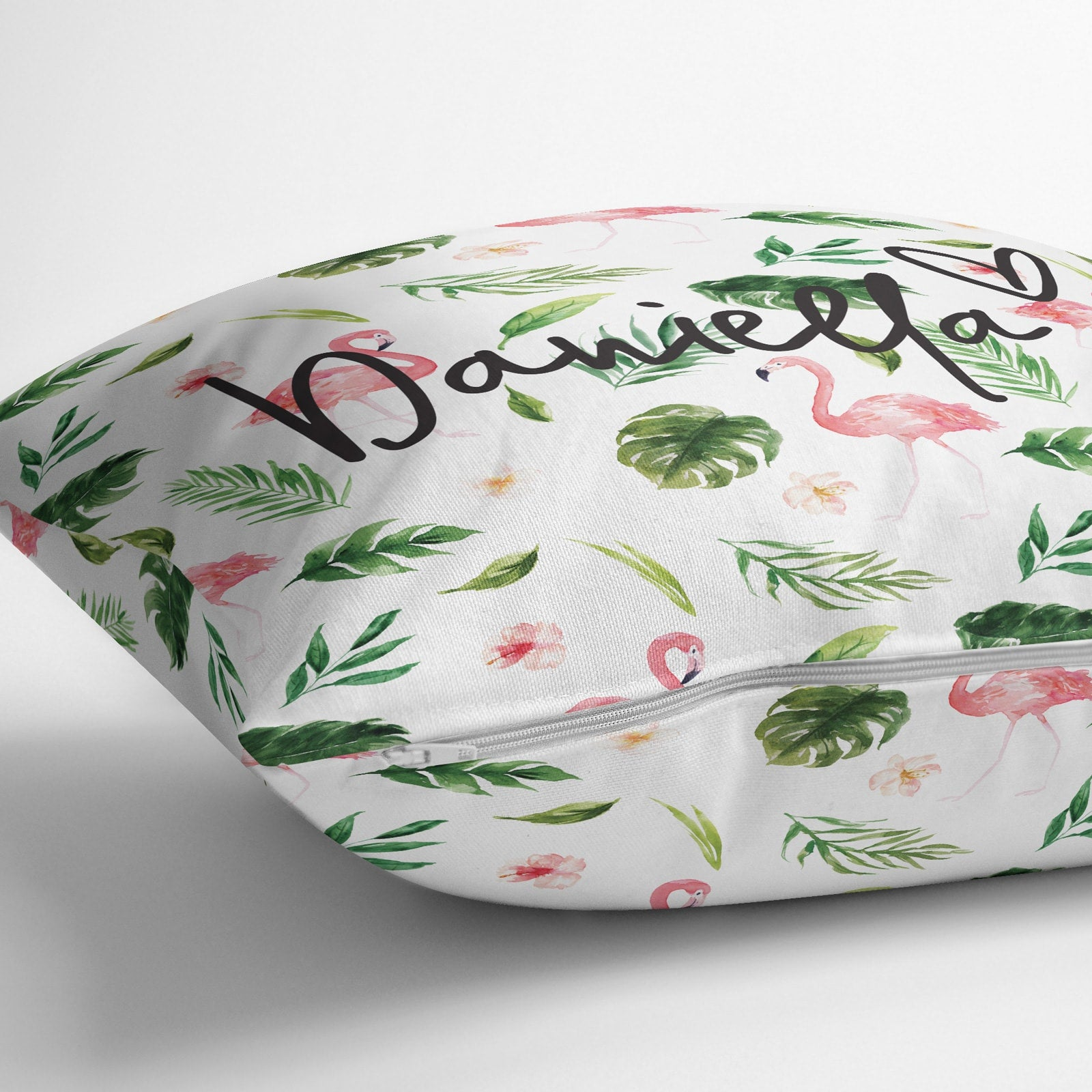 Personalised Tropical Flamingo Cushion