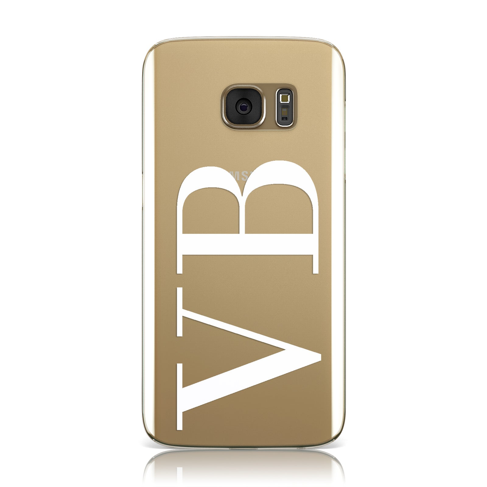 Personalised White Initials Customised Clear Samsung Galaxy Case