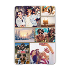 Photo Collage Apple iPad Gold Case