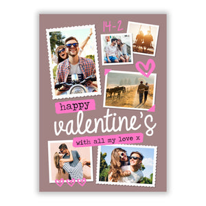 Photo Valentines A5 Flat Greetings Card