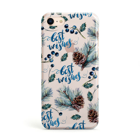 Pine cones & wild berries iPhone Case