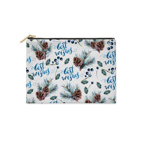 Pine cones & wild berries Clutch Bag
