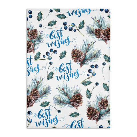 Pine cones & wild berries Tea Towel