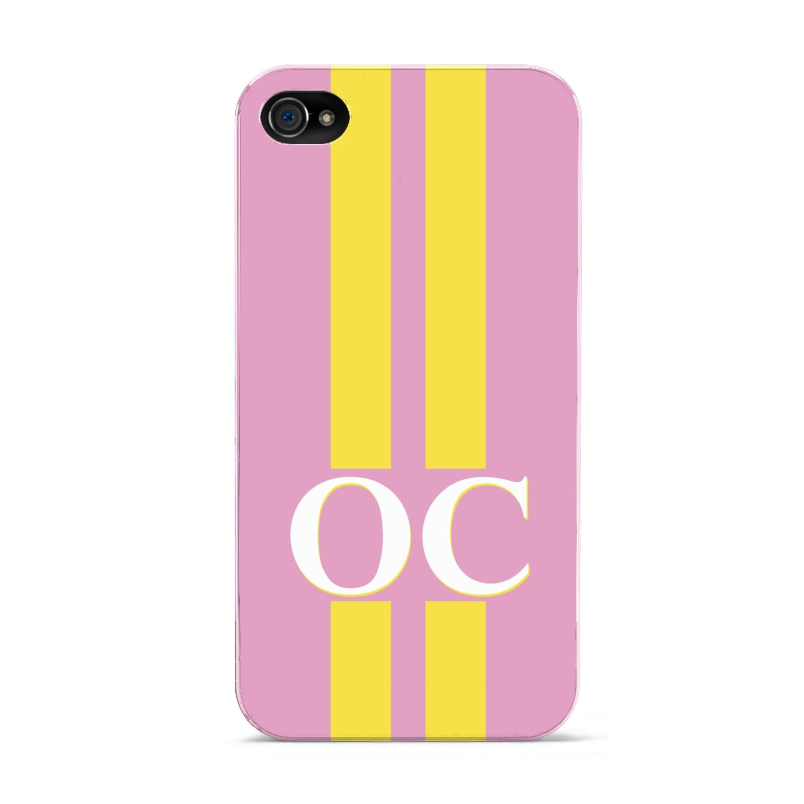 Pink Personalised Initials Apple iPhone 4s Case