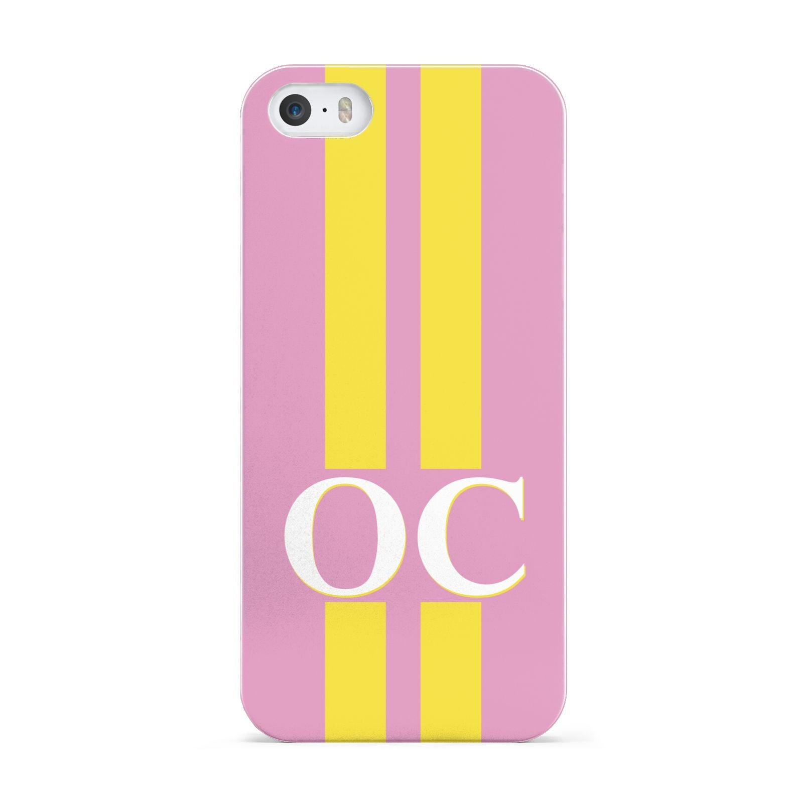 Pink Personalised Initials Apple iPhone 5 Case