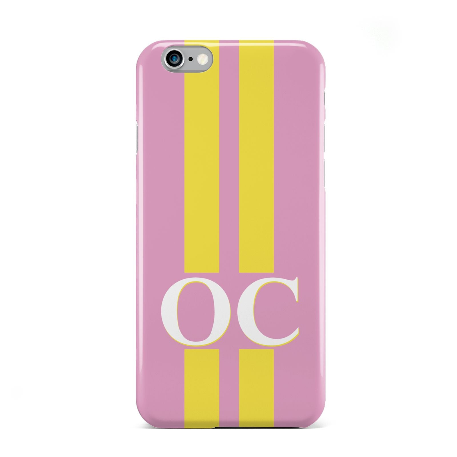 Pink Personalised Initials Apple iPhone 6 Case