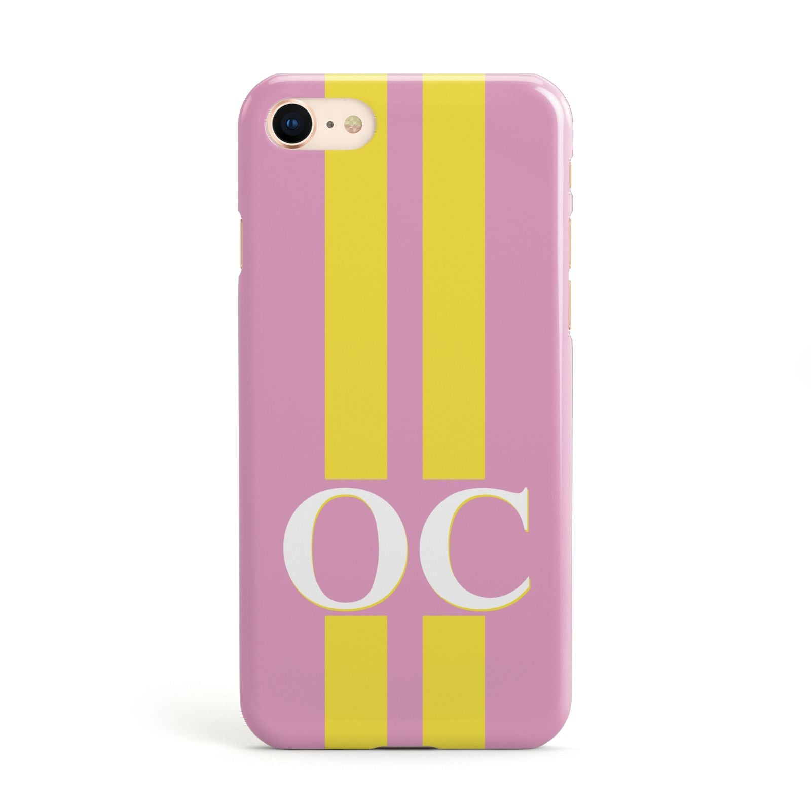 Pink Personalised Initials Apple iPhone Case