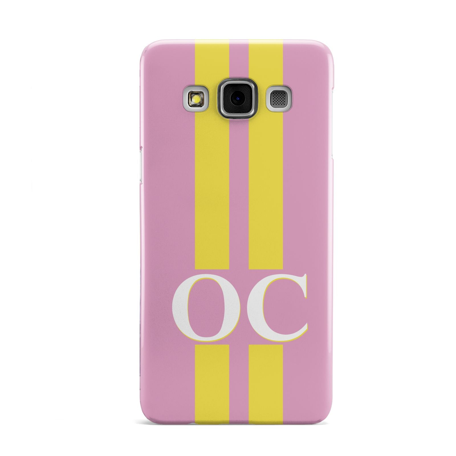 Pink Personalised Initials Samsung Galaxy A3 Case