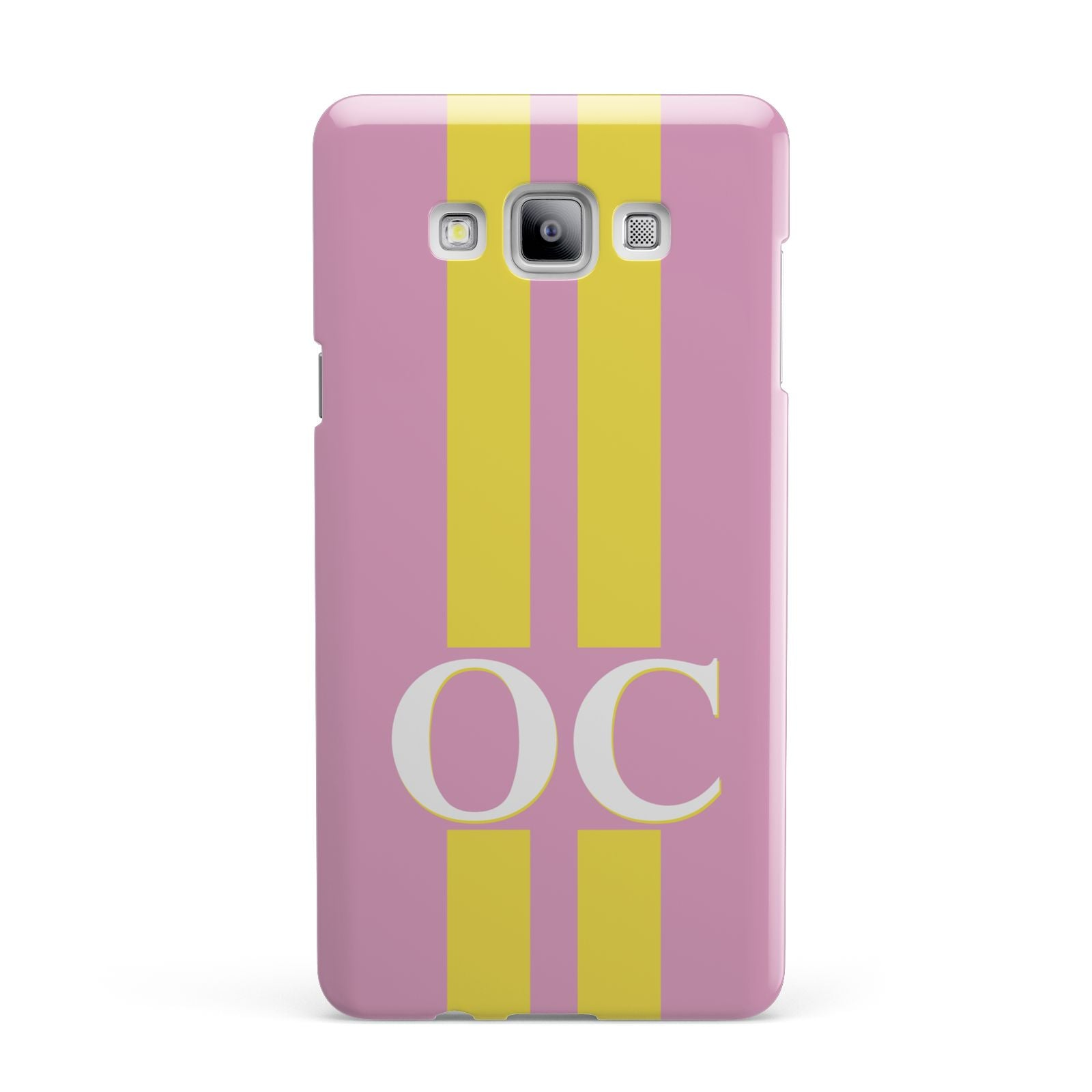 Pink Personalised Initials Samsung Galaxy A7 2015 Case
