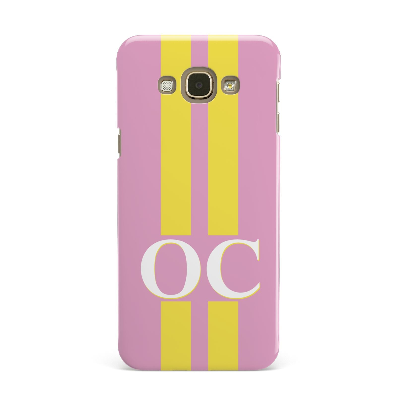 Pink Personalised Initials Samsung Galaxy A8 Case