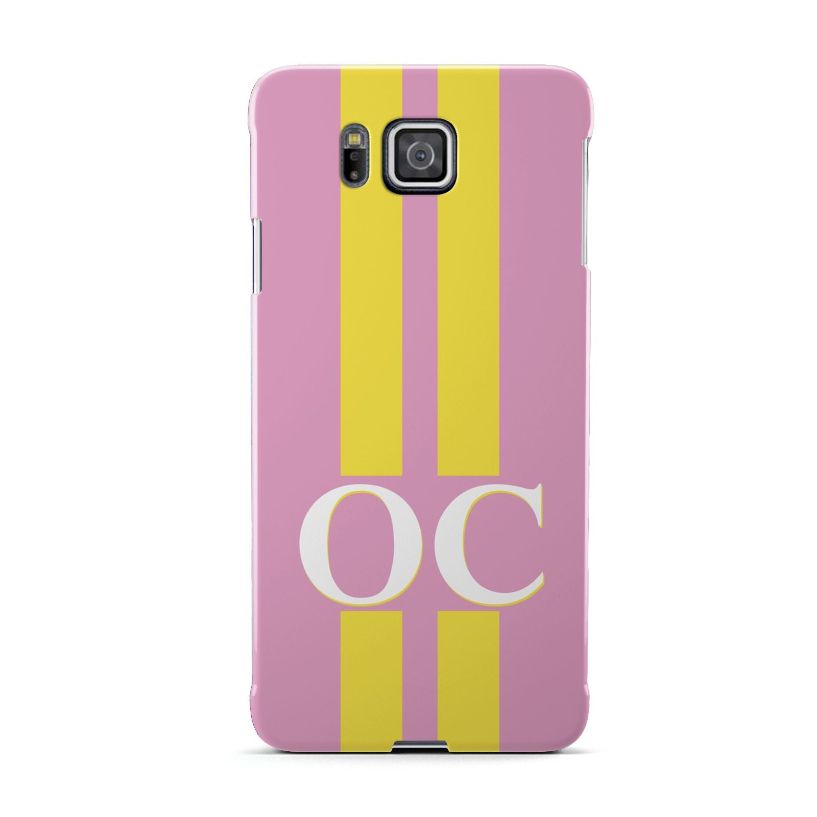 Pink Personalised Initials Samsung Galaxy Alpha Case