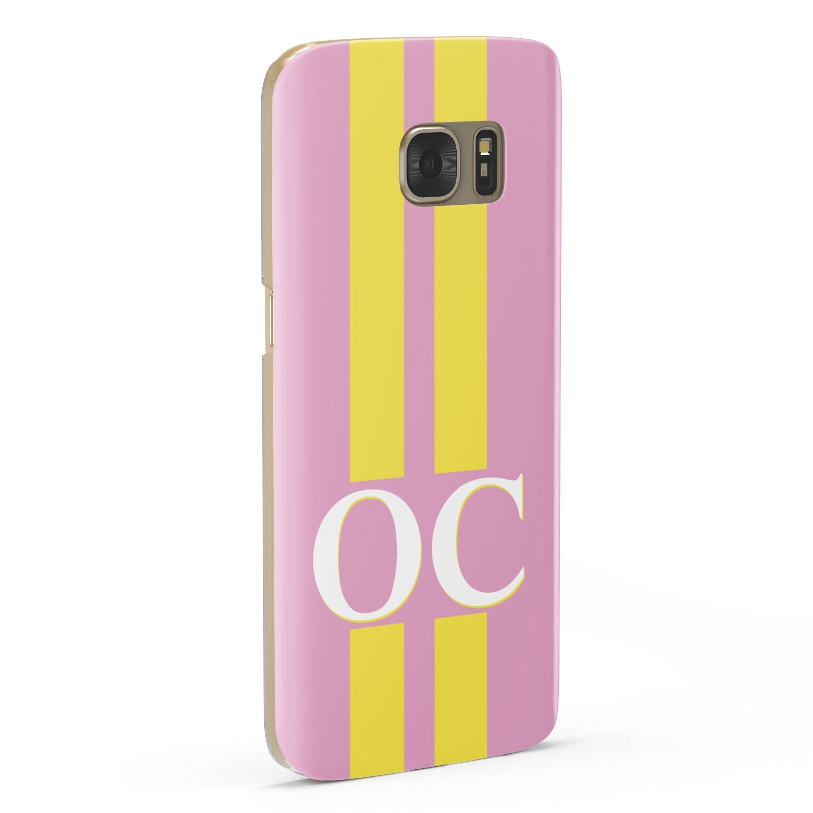 Pink Personalised Initials Samsung Galaxy Case Fourty Five Degrees