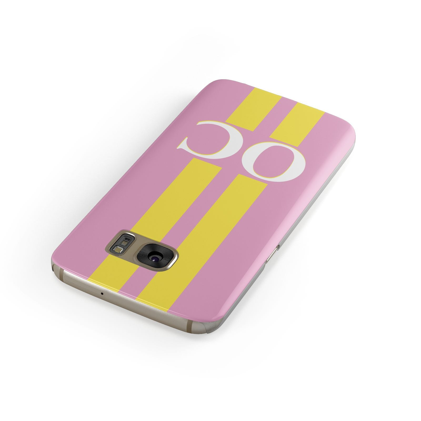 Pink Personalised Initials Samsung Galaxy Case Front Close Up