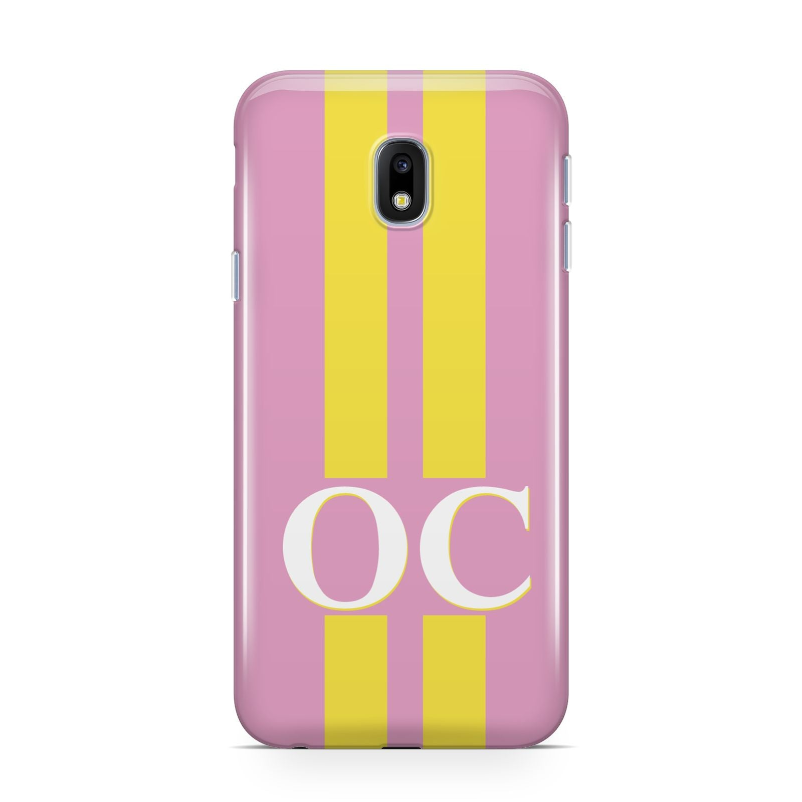 Pink Personalised Initials Samsung Galaxy J3 2017 Case