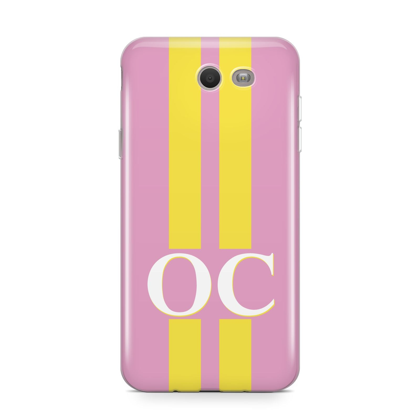 Pink Personalised Initials Samsung Galaxy J7 2017 Case
