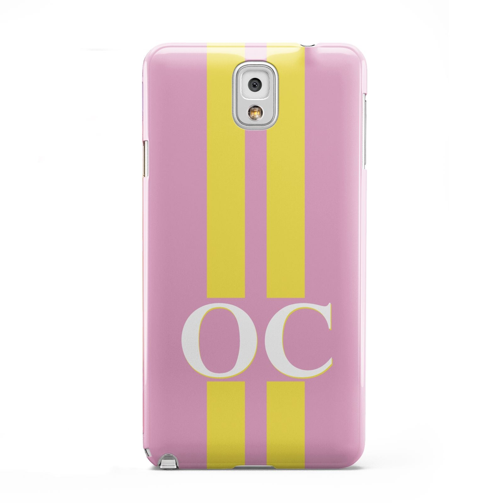 Pink Personalised Initials Samsung Galaxy Note 3 Case