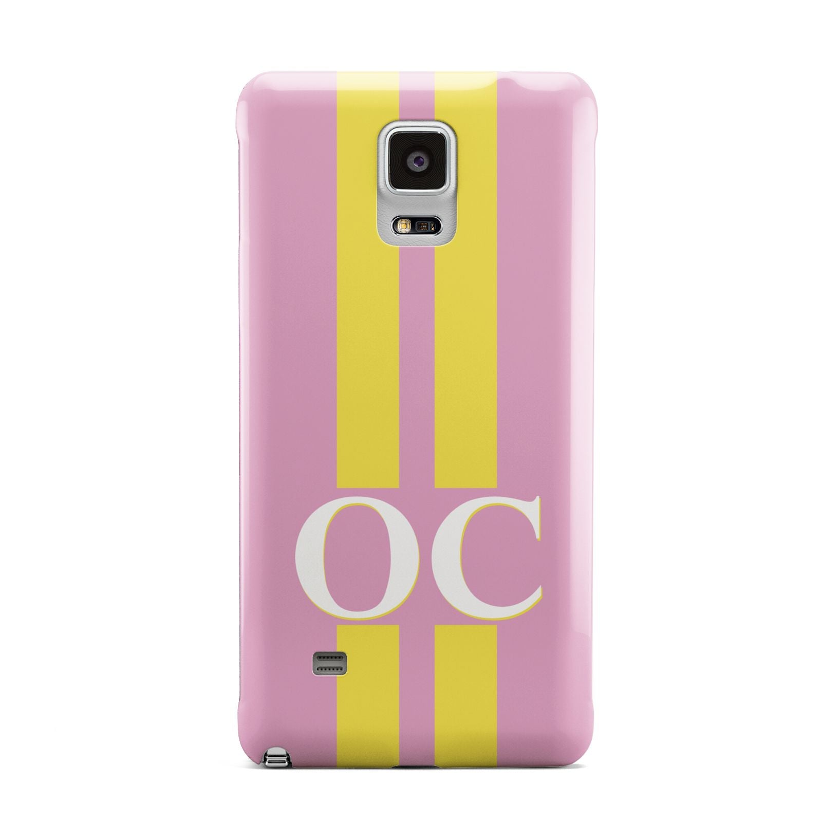 Pink Personalised Initials Samsung Galaxy Note 4 Case