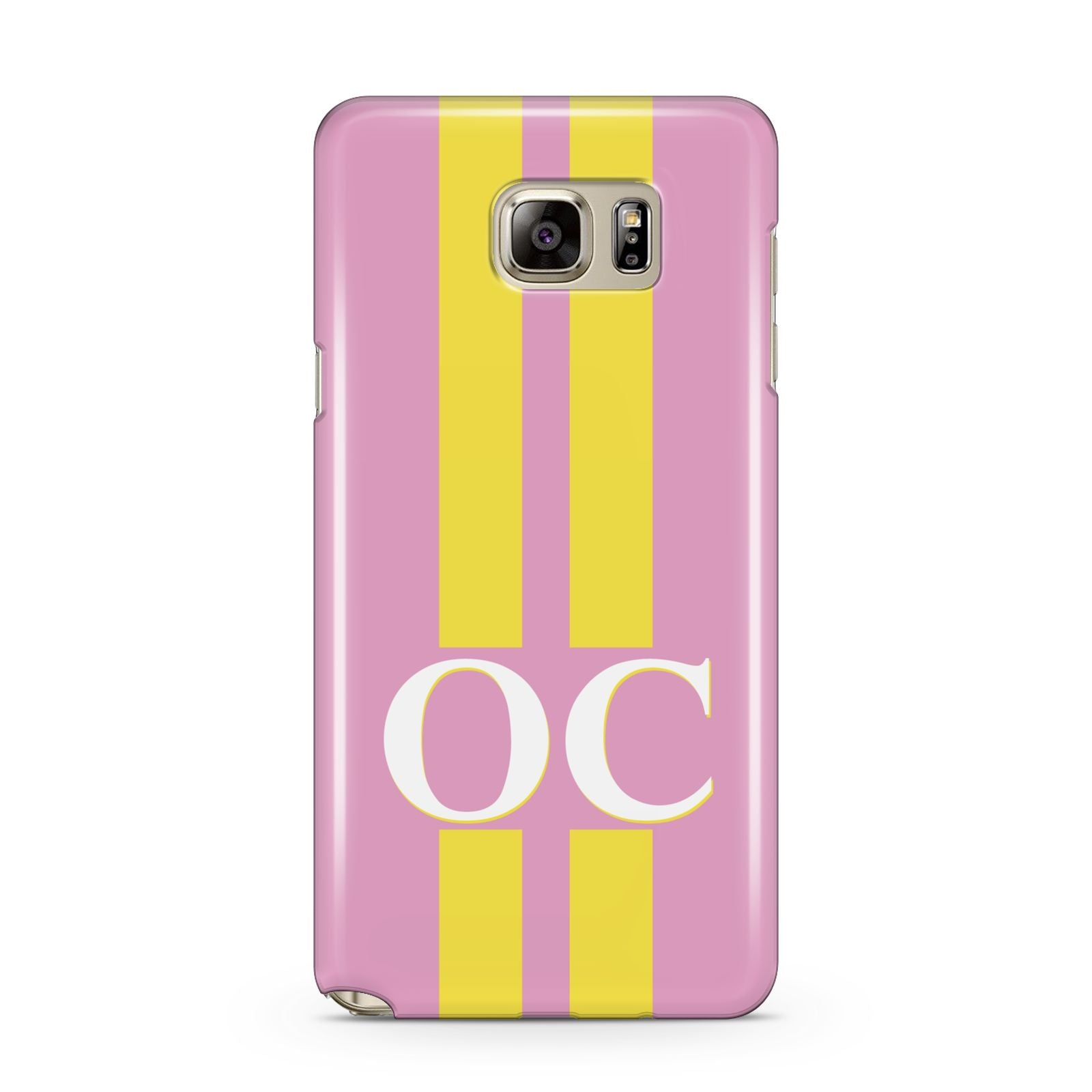 Pink Personalised Initials Samsung Galaxy Note 5 Case