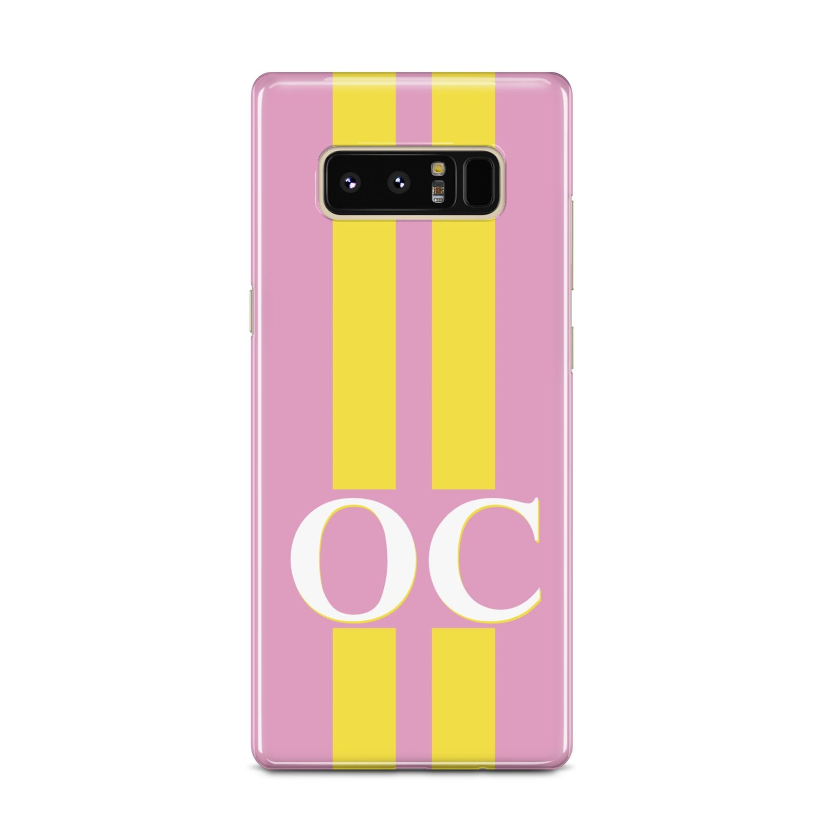 Pink Personalised Initials Samsung Galaxy Note 8 Case
