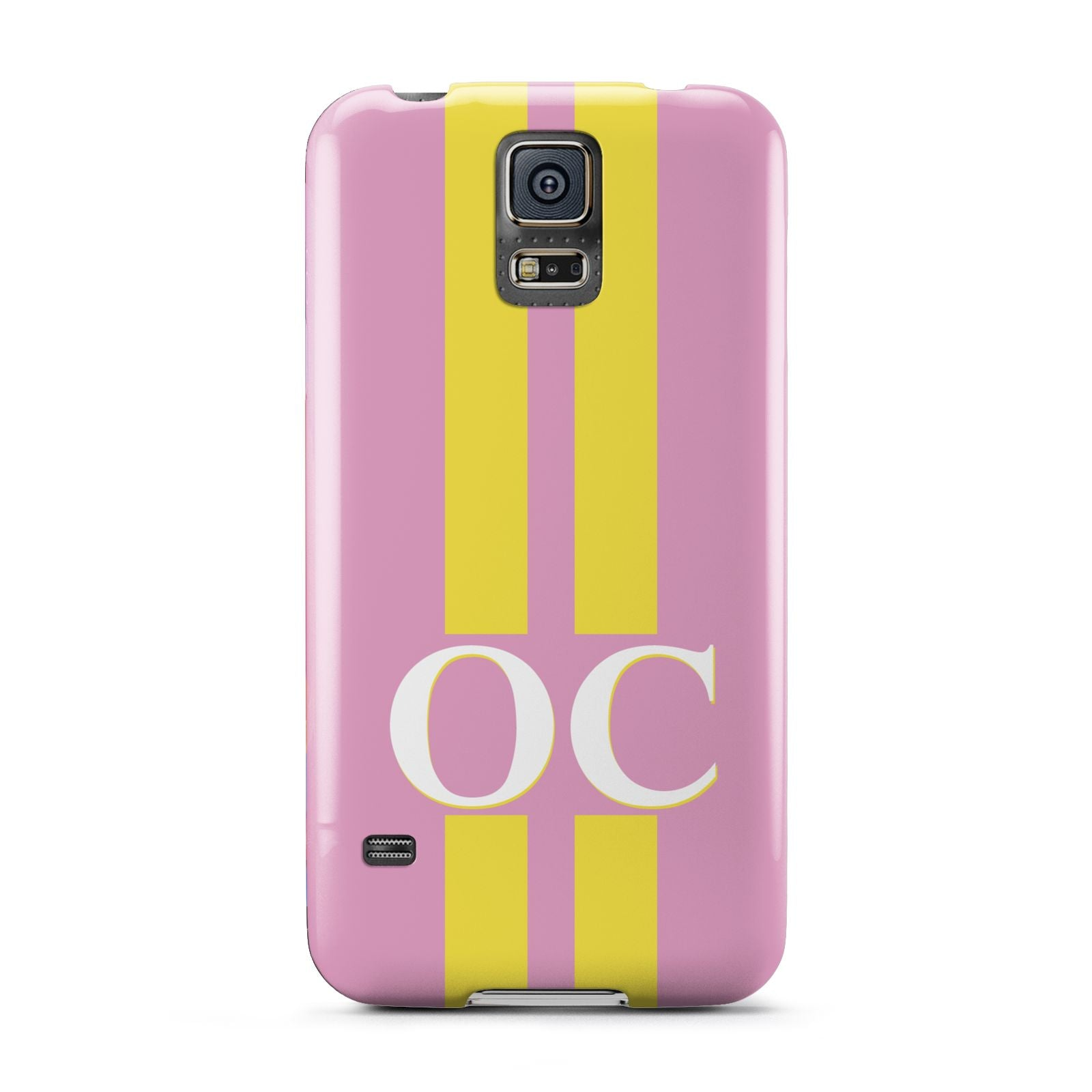 Pink Personalised Initials Samsung Galaxy S5 Case