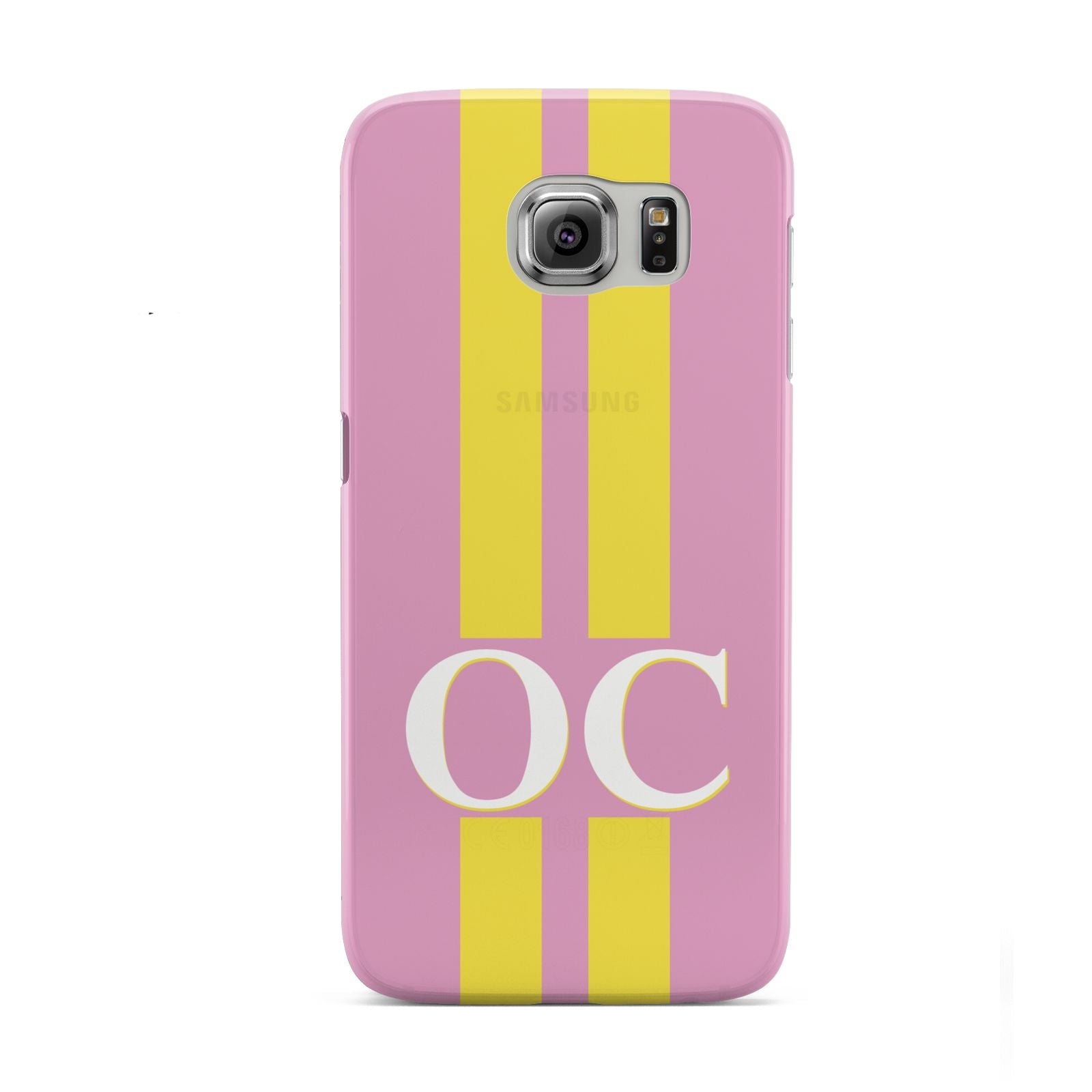 Pink Personalised Initials Samsung Galaxy S6 Case