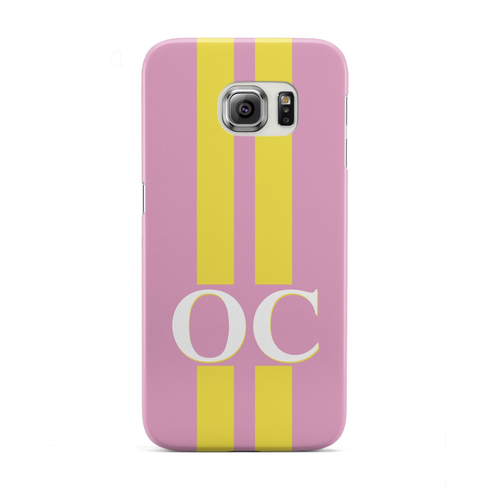 Pink Personalised Initials Samsung Galaxy S6 Edge Case