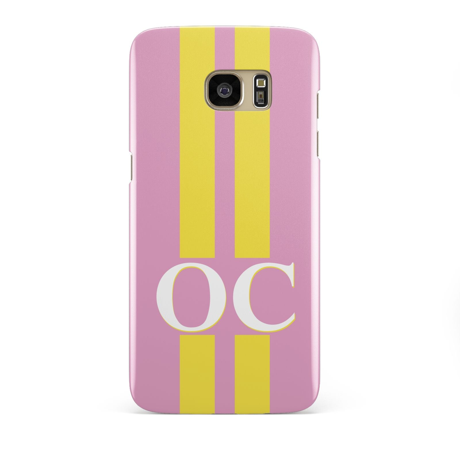 Pink Personalised Initials Samsung Galaxy S7 Edge Case
