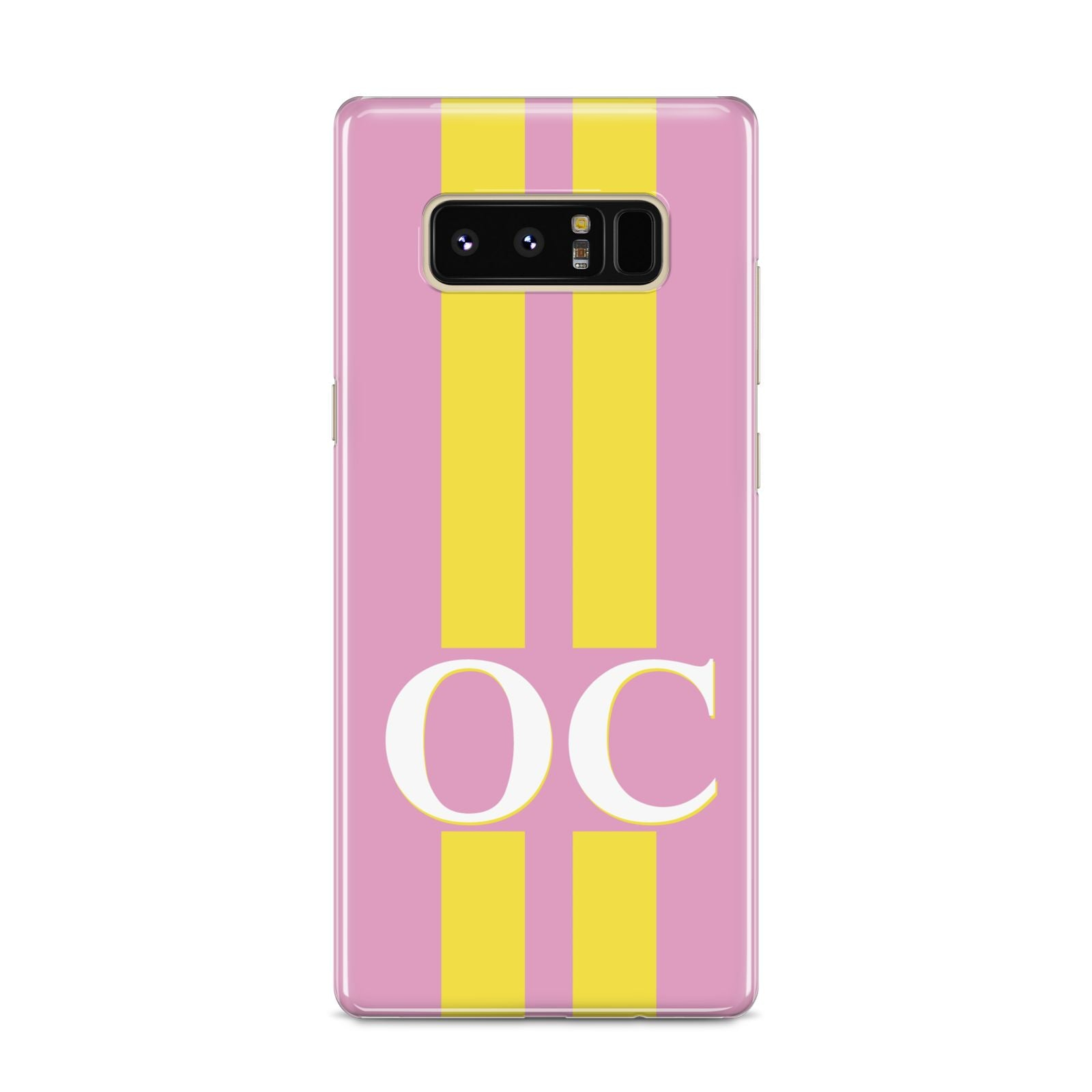 Pink Personalised Initials Samsung Galaxy S8 Case