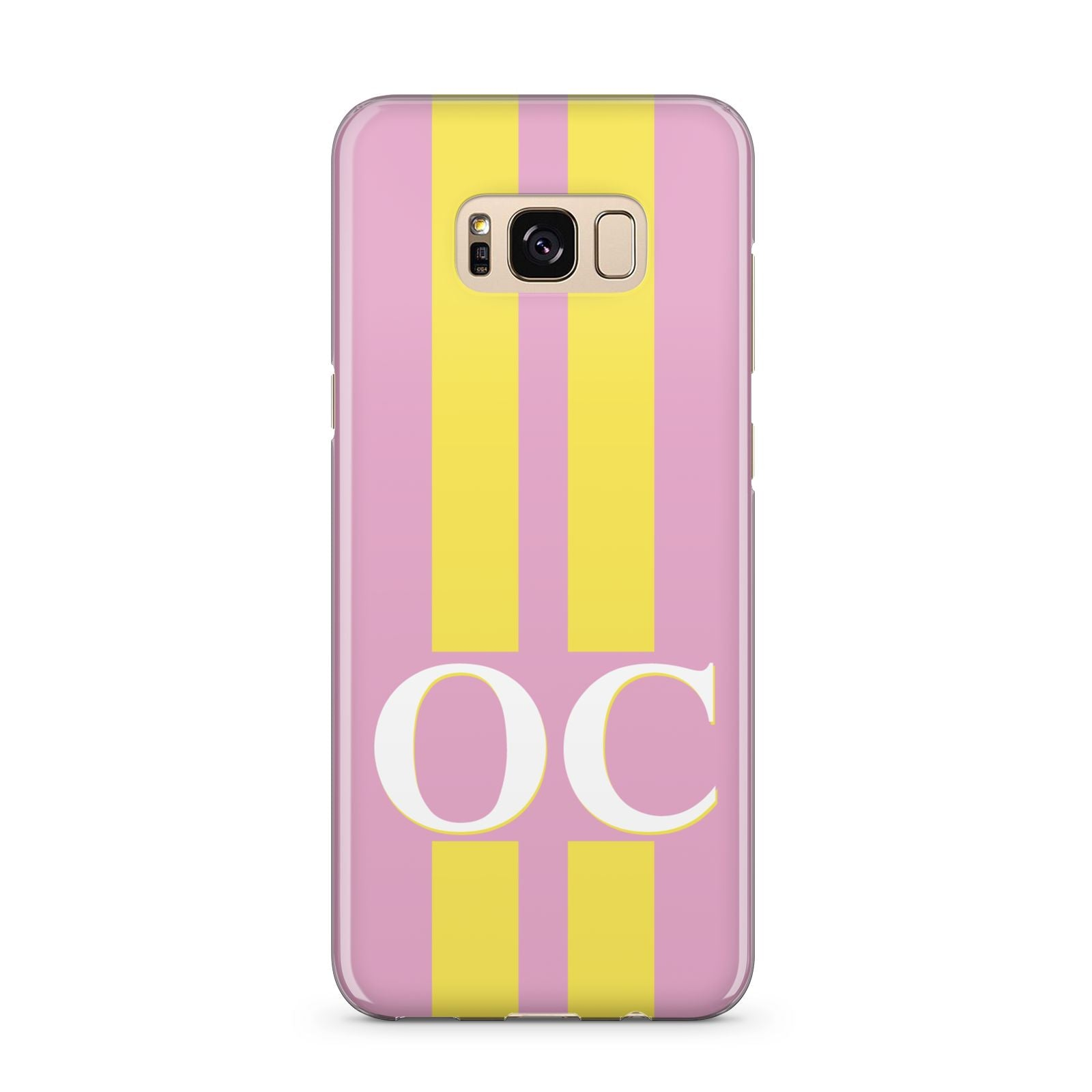 Pink Personalised Initials Samsung Galaxy S8 Plus Case