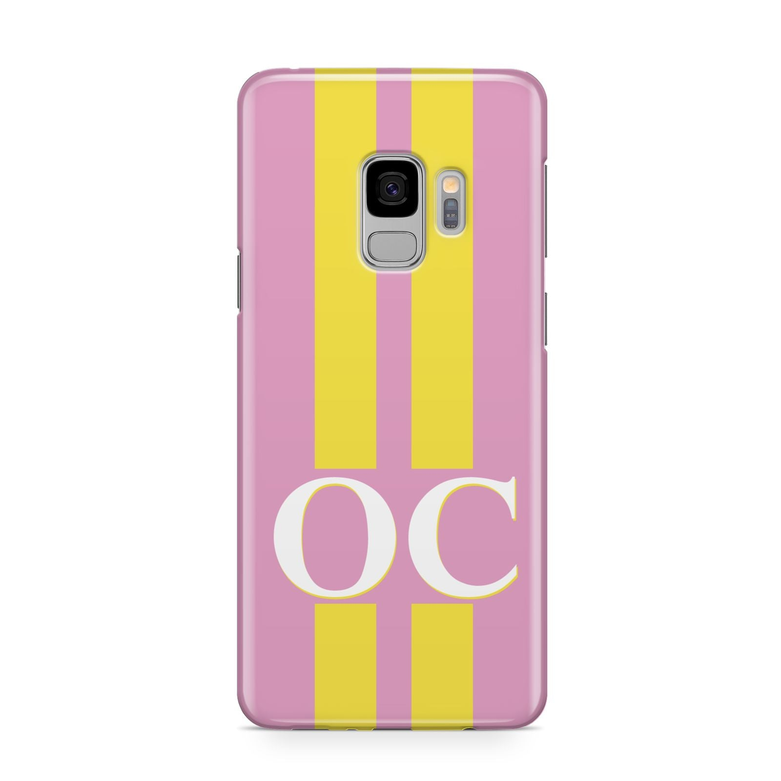 Pink Personalised Initials Samsung Galaxy S9 Case