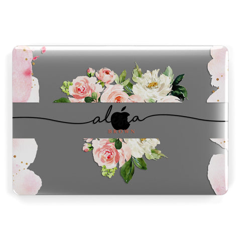 Pretty Roses Personalised Name Macbook Case