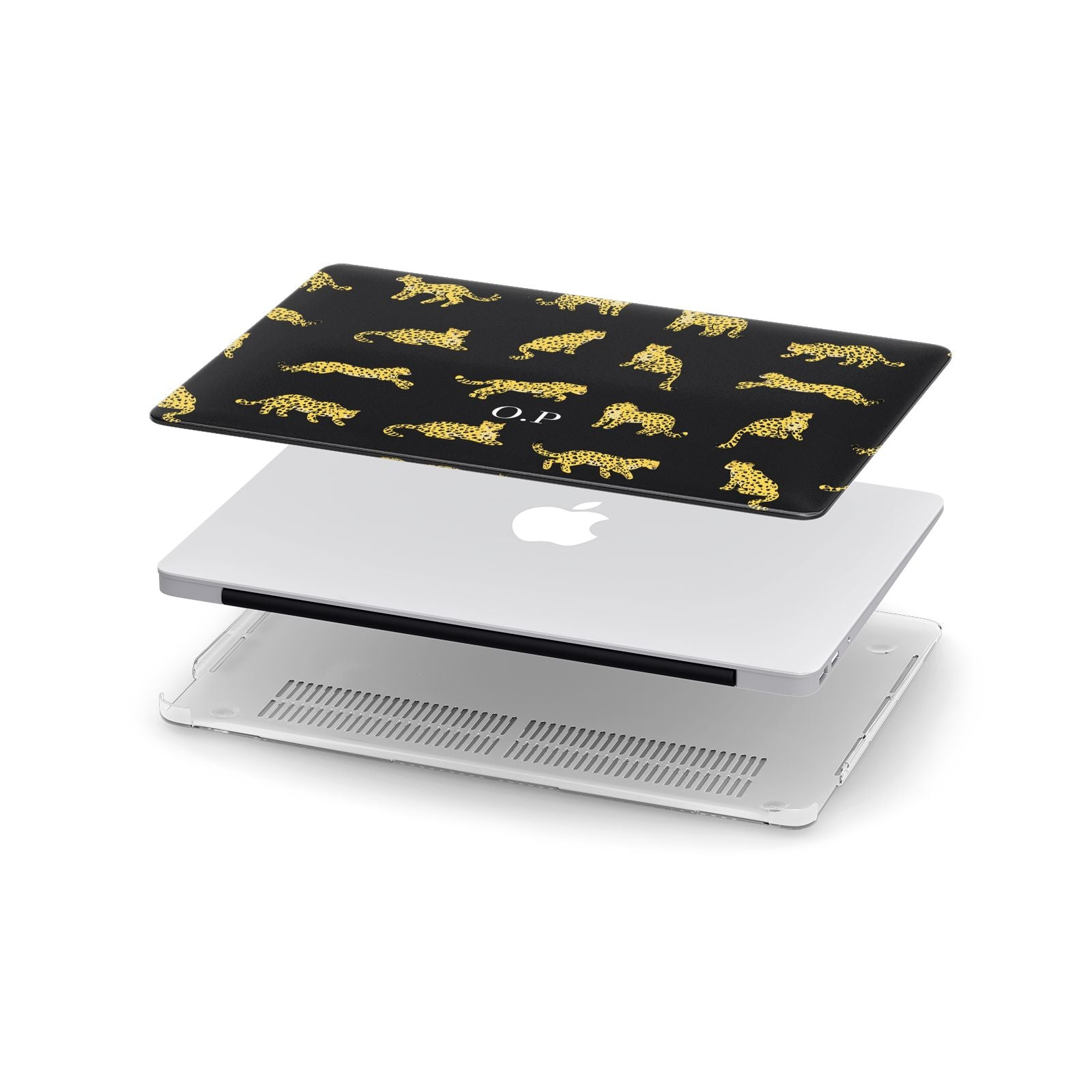 Prowling Leopard Apple MacBook Case in Detail