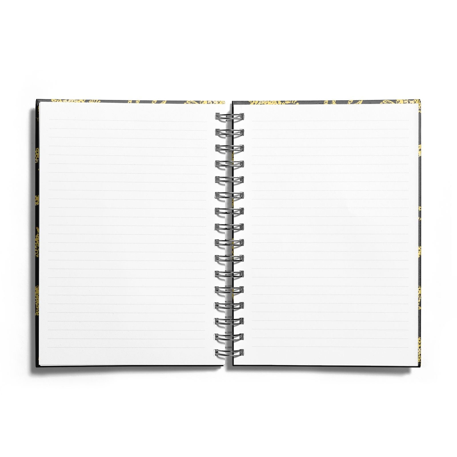 Prowling Leopard Notebook with Silver Coil and Lined Paper