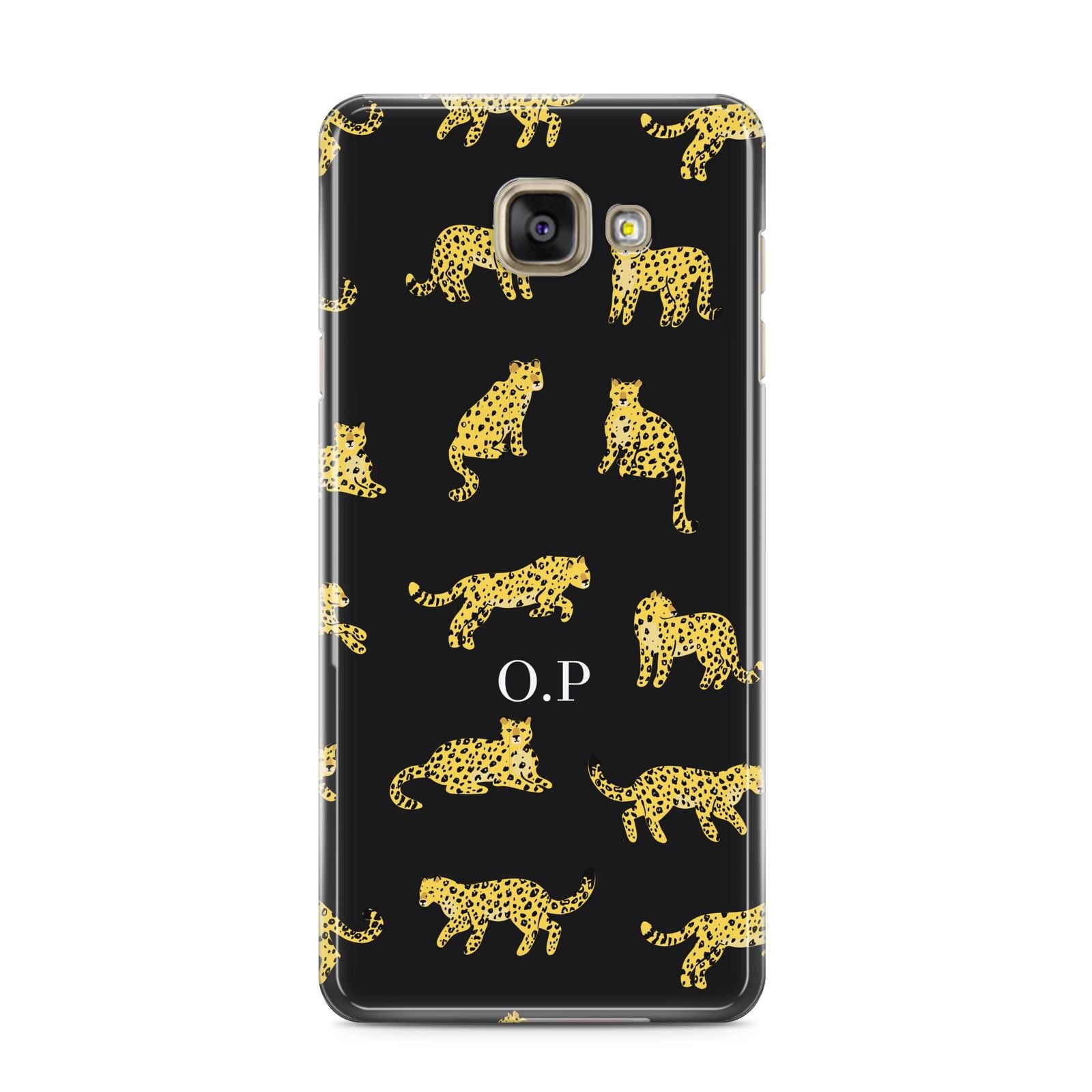 Prowling Leopard Samsung Galaxy A3 2016 Case on gold phone