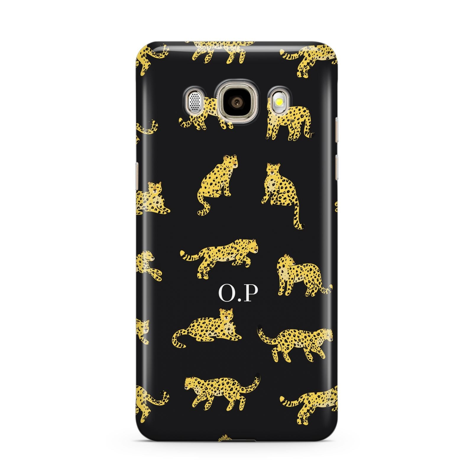 Prowling Leopard Samsung Galaxy J7 2016 Case on gold phone